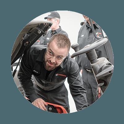 Forklift Service repair man