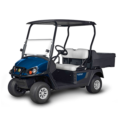 A picture of a blue utility vehicle available for purchase at Fraza Group