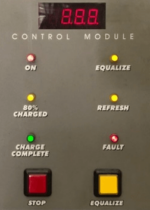 forklift charger controls