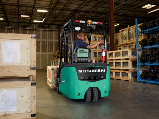 sit-down electric counterbalanced pneumatic forklift